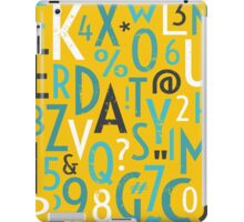 Retro Letters and Numbers iPad Case/Skin