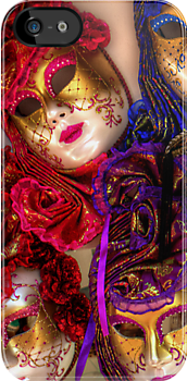 Venetian Masquerade Masks - iPhone Case by Tom Gomez