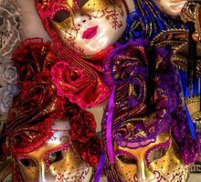 Venetian Masquerade Masks - iPad Case by Tom Gomez