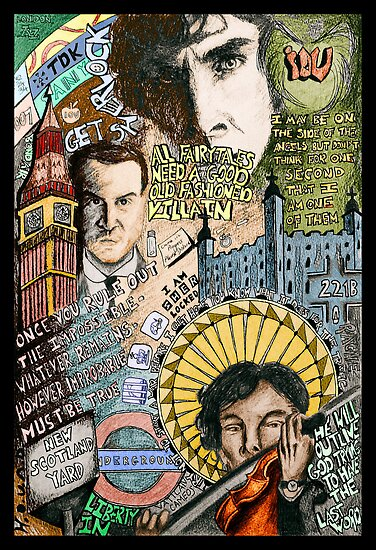 Sherlock dada coloured version by SerendipityArt