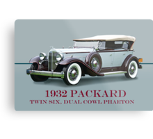 1932 Packard Twin Six Dual Cowl Phaeton w/ ID Metal Print
