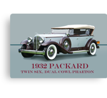 1932 Packard Twin Six Dual Cowl Phaeton w/ ID Canvas Print