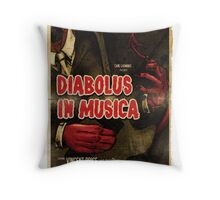 Devil in Music - Guitar Throw Pillow