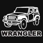 Jeep Wrangler Inverse Outline by AstroNance
