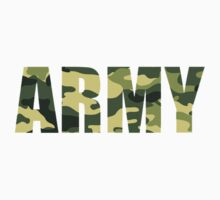 Army T Shirt by McElla Gregor