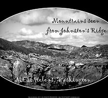 mountains seen from Johnston's Ridge, oval by Dawna Morton