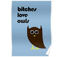 Bitches Love Owls Poster