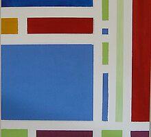 Colour Blocks I Acrylic on canvas by Mark P Hennessy