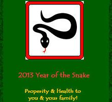 Green Snake New Year by CatalystBC