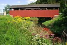 Historic Buttonwood Covered Bridge In September by Gene Walls