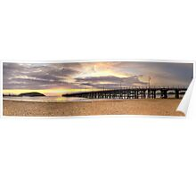 Warm Sunrise - Coffs Harbour Poster