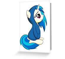Vinyl Scratch - Lost in Thought Print Greeting Card