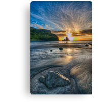 Sunset at Talisker Bay Canvas Print