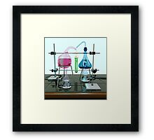 Impossible chemistry experiment Framed Print