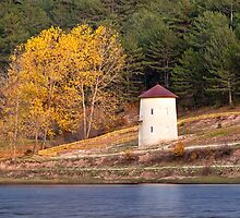 Windmill At Autumn At Cubuk Lake, Turkey by Kuzeytac