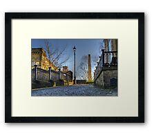 Albert Terrace, Saltaire. BRADFORD Framed Print