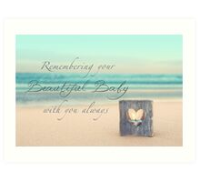 Remembering Your Baby Art Print