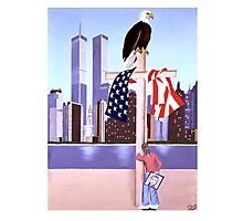 September 11th 2001- (God is our refuge: pslam 121) Photographic Print