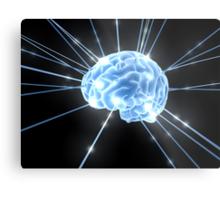 Brain Glow Energy Metal Print