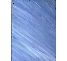 BLUE CALMNESS ON CANVAS Photographic Print
