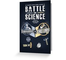 Battle for Science - V2 Greeting Card