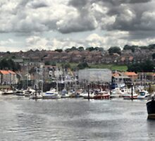 Whitby port Panorama by Maria Tzamtzi