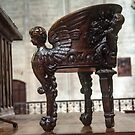 Archbishop's Chair Bayeux Cathedral 198402180069 by Fred Mitchell