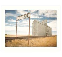 Lothair, Montana Art Print