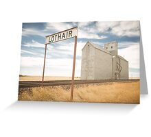Lothair, Montana Greeting Card