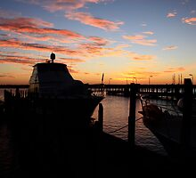 Fremantle Yacht Club Sunset by Noel Elliot