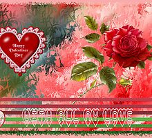 Happy Valentines Day Card by Elaine Game