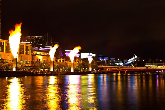 Fire on the river by Adam Price