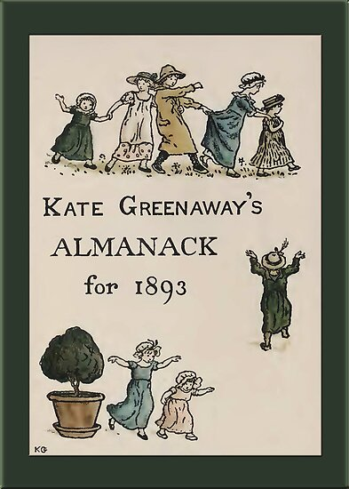 Greetings-Kate Greenaway-Almanack Cover 1893 by Yesteryears