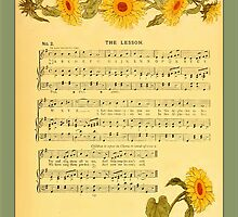 Greetings-Kate Greenaway-The Lesson by Yesteryears