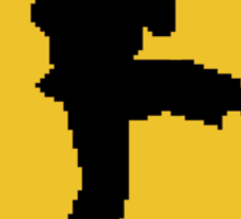 Beware of Ryu Hurricane Kick Road Sign - 8 bit Retro Style Sticker