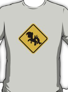 Beware of My Little Pony Road Sign T-Shirt