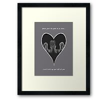 Can't Take My Eyes Off Of You Framed Print