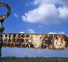 Road Sign - Lincolnshire by Martin Cameron
