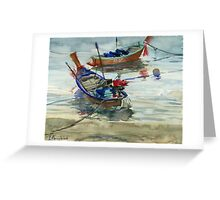 Two boats on the sea Greeting Card