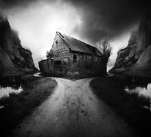Road to nowhere Black and white by Karolina Kundzicz
