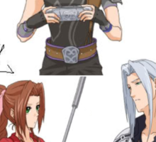 Dissidia 012 Reports Final Fantasy Characters With Name Signs Sticker