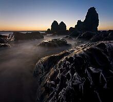 Carving Stone - Rodeo Beach by Matt Tilghman