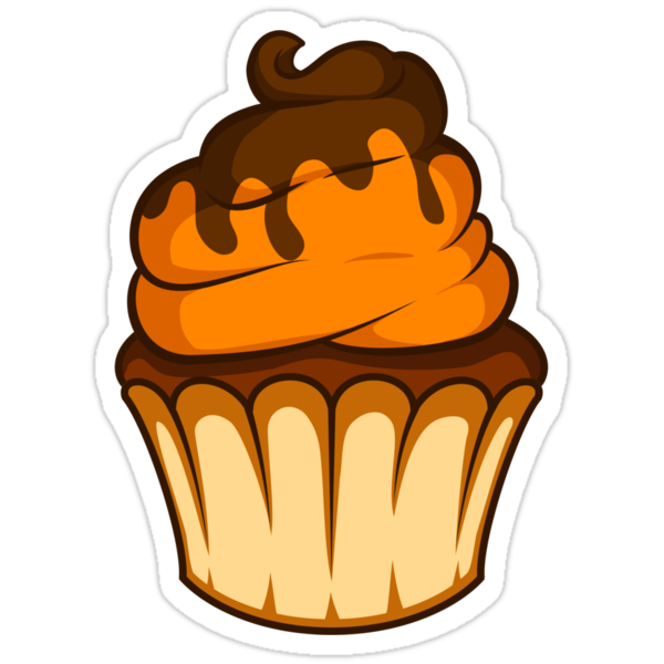 Orange and Chocolate Cupcake by Carina Reis