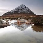 Buachaille Etive Mor Reflection by Maria Gaellman