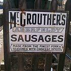 Vintage Poster Aberfeldy Sausages by Katherine Case