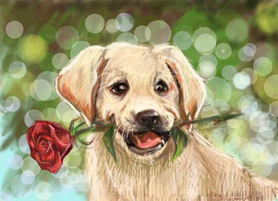 Romantic puppy by Redilion