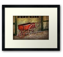 Wagon - That old red wagon  Framed Print
