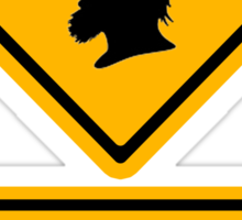 Bogans crossing (diamond square) Sticker