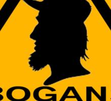 Bogans next 10km (triangle) Sticker