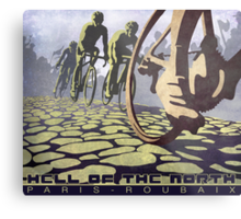 cycling illustration HELL OF THE NORTH retro Paris Roubaix  Metal Print